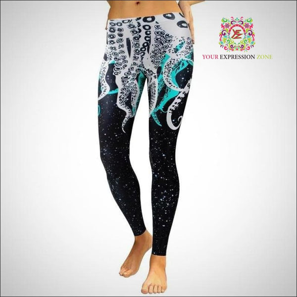 Starry Night Octopus Leggings - Your Expression Zone