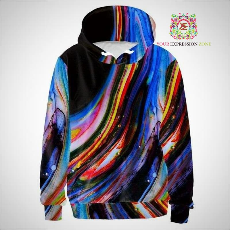 Trippy Marble Hoody - Your Expression Zone