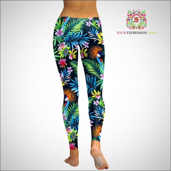 Tropical Flowers Leggings - Your Expression Zone