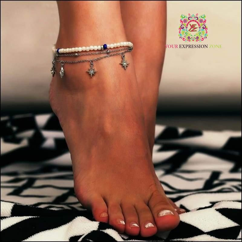 Glistening Star Anklet - Your Expression Zone