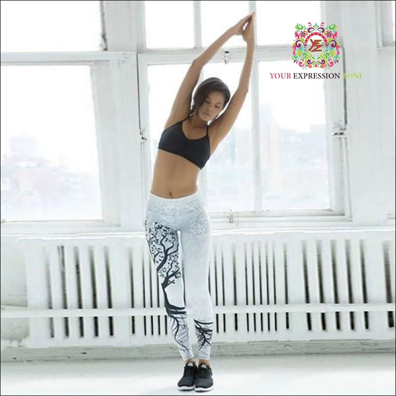 White Tree Of Life Leggings - Your Expression Zone