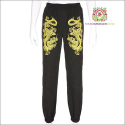 Fearless Dragon Cuffed Pants - Your Expression Zone