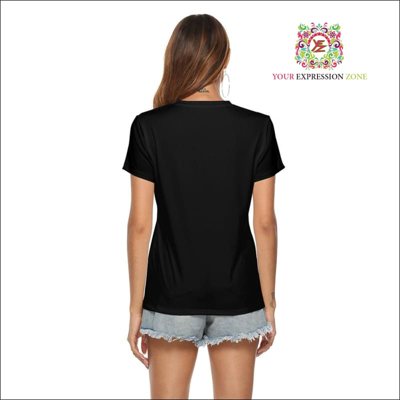 Women's Short Sleeve V-Neck Shirt March 1 - Your Expression Zone