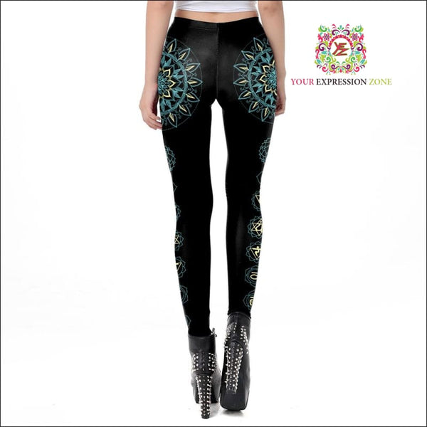 Chakra Flower Leggings - Your Expression Zone