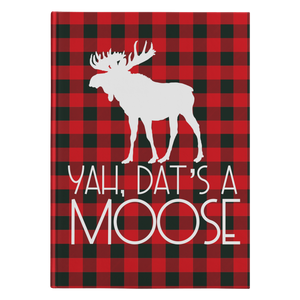 Dat's A Moose Hardcover Journal