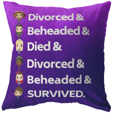 Six the Musical Throw Pillow