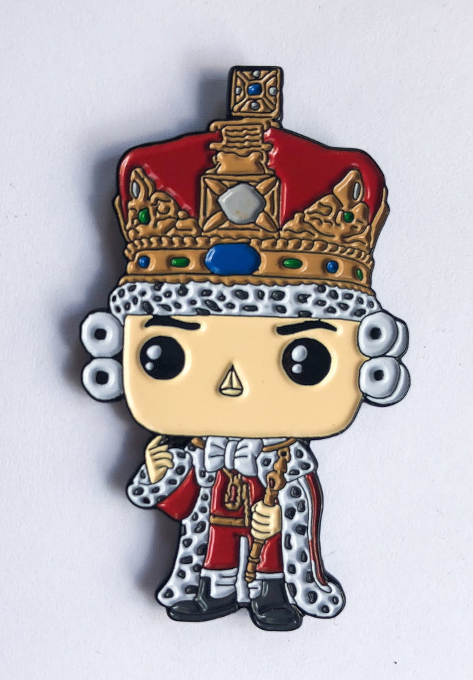 King George III Enamel Pin