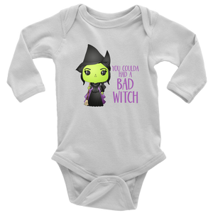 Bad Witch Long Sleeved Infant Bodysuit
