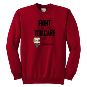 RBG Fight Youth Crewneck Sweatshirt