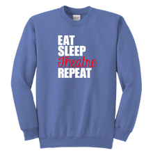 Load image into Gallery viewer, Eat Sleep Theatre Youth Crewneck