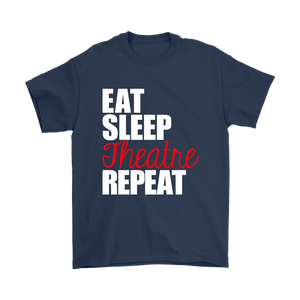 Eat Sleep Theatre Repeat Plus Size T-Shirt