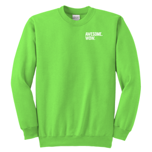 Awesome Wow Youth Crewneck Sweatshirt