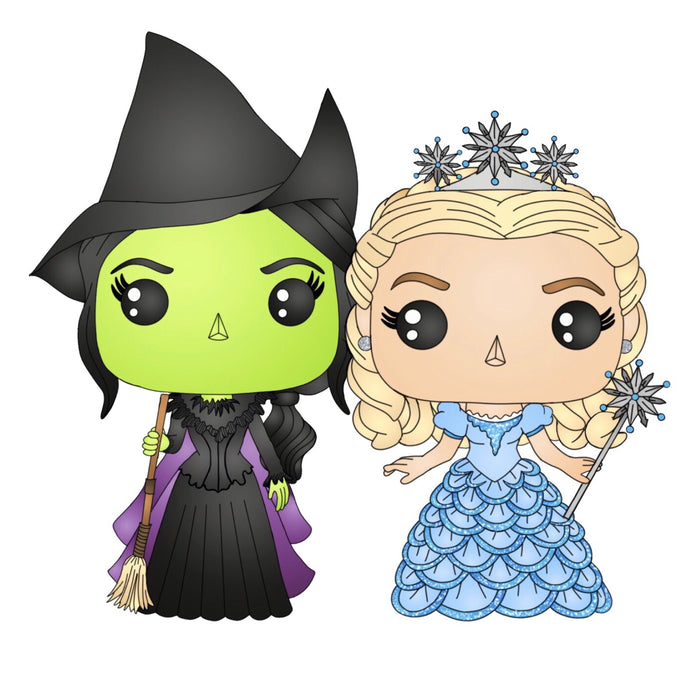 Elphaba & Glinda Sticker