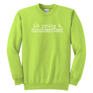 Young & Misunderstood Youth Crewneck Sweatshirt