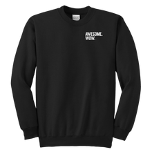Load image into Gallery viewer, Awesome Wow Youth Crewneck Sweatshirt