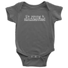 Load image into Gallery viewer, Young & Misunderstood Infant Bodysuit