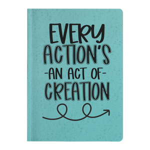 Every Action Aqua Paperback Journal