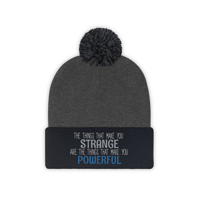 Strange/Powerful Pom Pom Beanie