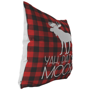 Dat's A Moose Throw Pillow