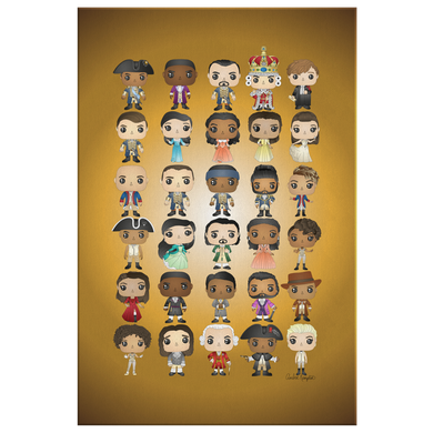 Hamilton Pop Chart (32X48 Canvas)