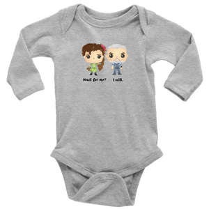 Persephone & Hades Long Sleeved Infant Bodysuit
