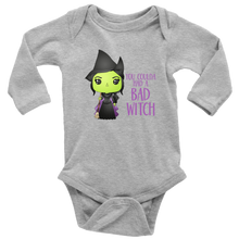 Load image into Gallery viewer, Bad Witch Long Sleeved Infant Bodysuit