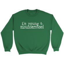 Load image into Gallery viewer, Young & Misunderstood Crewneck Sweatshirt