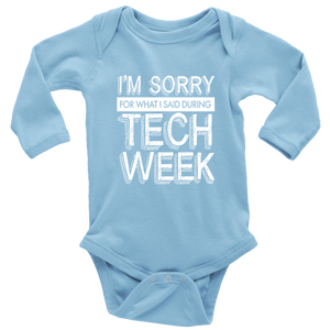 Tech Week Long Sleeved Infant Bodysuit