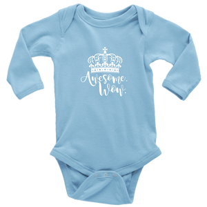 Awesome Wow Long Sleeved Infant Bodysuit