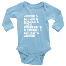 Load image into Gallery viewer, Theatre Life Long Sleeved Infant Bodysuit