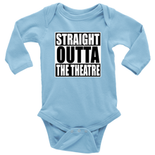 Load image into Gallery viewer, Straight Outta Theatre Long Sleeved Infant Bodysuit