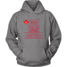 Load image into Gallery viewer, Canada Come From Away Lyrics Hoodie