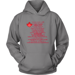 Canada Come From Away Lyrics Hoodie