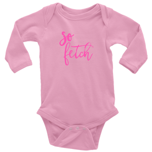 So Fetch Long Sleeved Infant Bodysuit