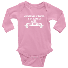 Load image into Gallery viewer, Seize the Day Long Sleeved Infant Bodysuit