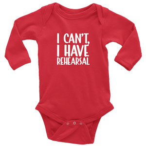 Rehearsal Long Sleeved Infant Bodysuit