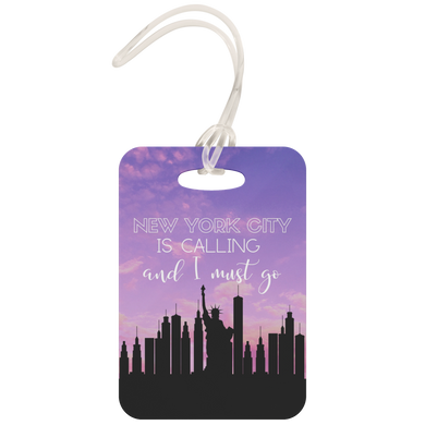 NYC Luggage Tag (Purple Sunset)