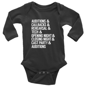 Theatre Life Long Sleeved Infant Bodysuit