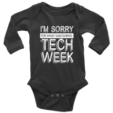Load image into Gallery viewer, Tech Week Long Sleeved Infant Bodysuit