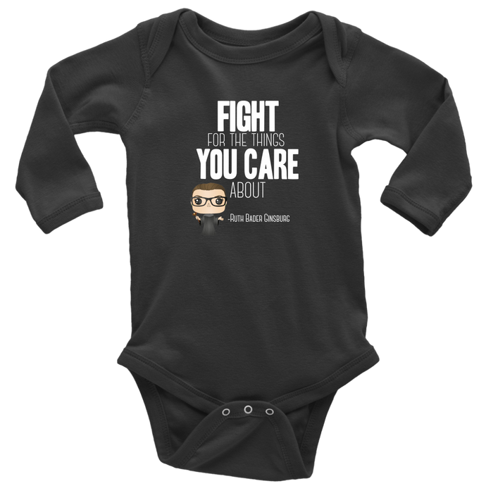 RBG Fight Long Sleeved Infant Bodysuit