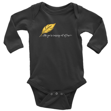 Running Out of Time Long Sleeved Infant Bodysuit