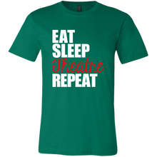 Load image into Gallery viewer, Eat Sleep Theatre Repeat Unisex T-Shirt