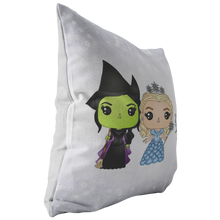Load image into Gallery viewer, Elphaba & Glinda Throw Pillow