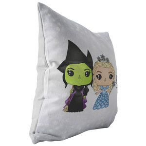 Elphaba & Glinda Throw Pillow