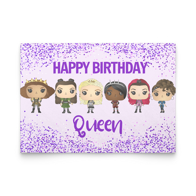 Six Queens Birthday Cards