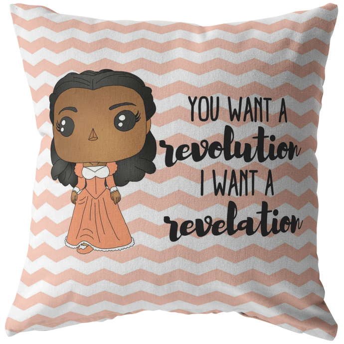 Angelica Schuyler Throw Pillow