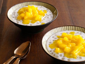 Coconut Tapioca Pudding with Mango Jam