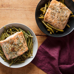 Broiled Salmon With Dilly Beans