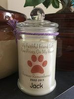 Pet Personalised 150ml Soy Candle