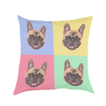 Pop Art Pet Face Cushion Cover